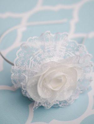Lace Flower Communion Band