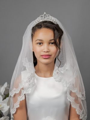 Royal Tiara Communion Veil