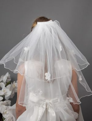 Daisy Clip Comb Communion Veil