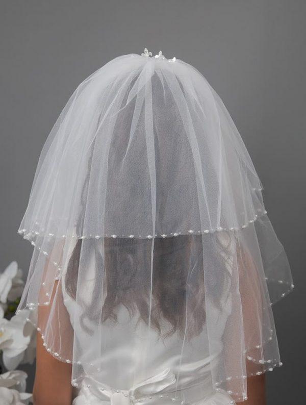 Beaded Tiara Communion Veil